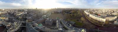 360° AERIAL PANORAMA TRAFALGAR SQUARE LONDON