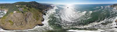 360° AERIAL PANORAMA OF TREVONE BAY CORNWALL